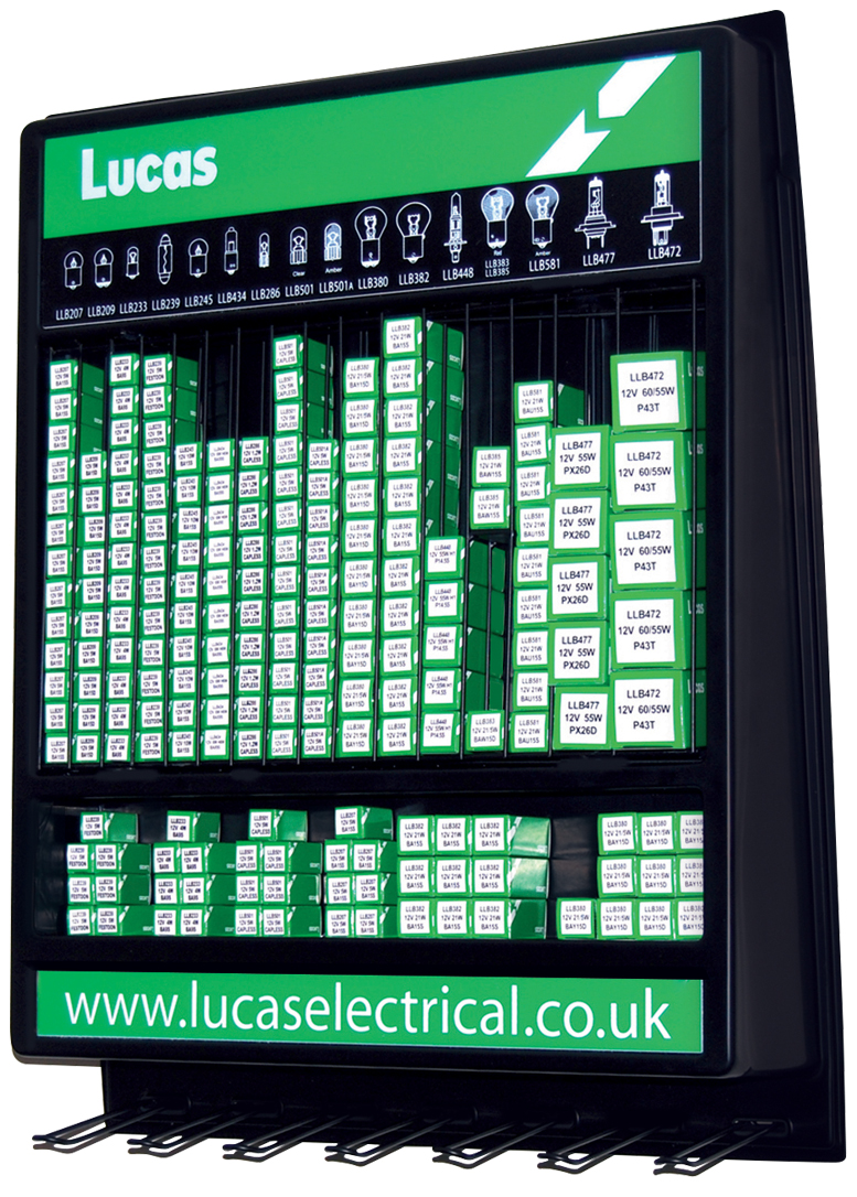 Lucas Electrical Bulb Point Of Sale And Display Stands